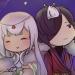 130730: A'milia & Gigiru under the moonlight.